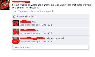 funny jesus facebook status