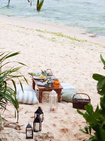 Latarenki na plaży