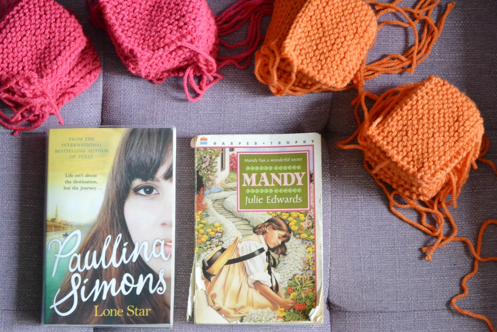 knitting patchwork baby blanket charity reading mandy lone star library book