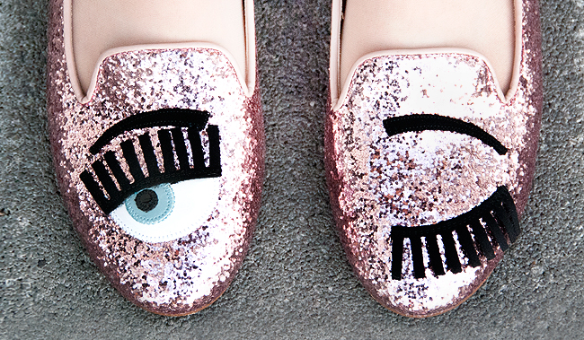 chiara ferragni shoes, surreal shoes, shoes with eyes