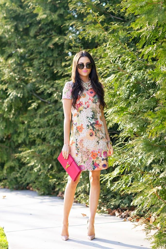 roupas da moda, vestido floral, moda feminina, salto alto
