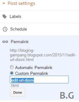 Atur URL Postingan Blog dengan Cara Ini