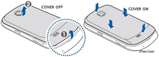 Samsung Galaxy Mini GT-S5570 Open  Rear Cover Attach Back Casing