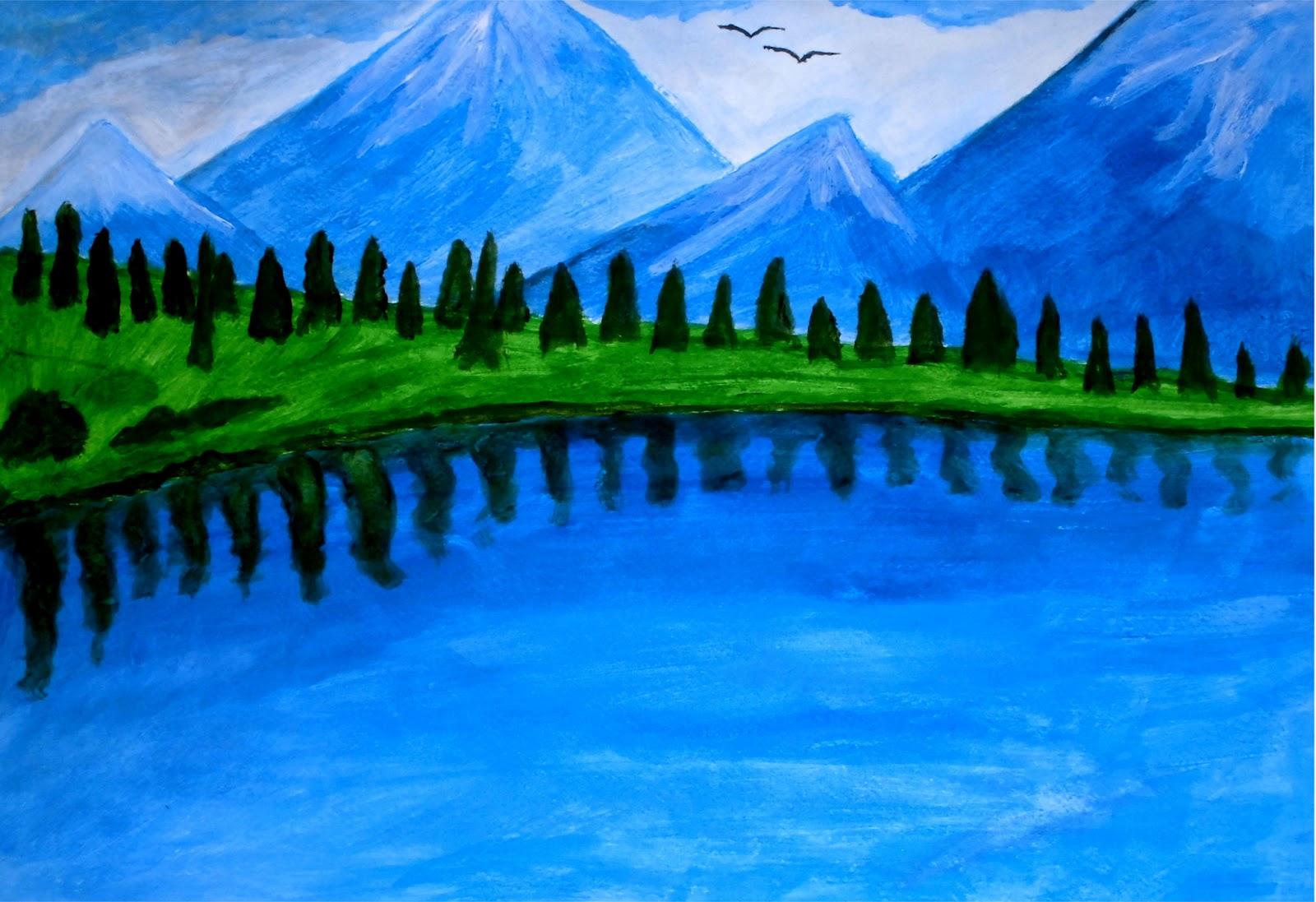 Im genes de paisajes f ciles de hacer imagui - Paisajes nevados para pintar ...