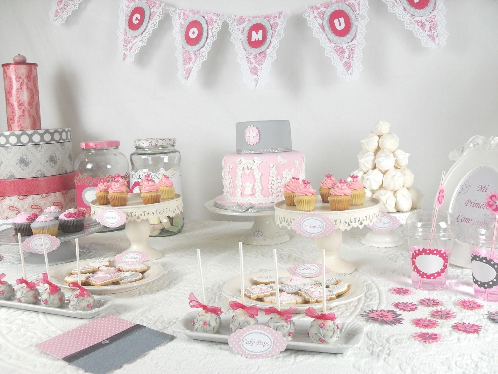 Mesas de dulce para bautizo imagui for Decoracion comunion