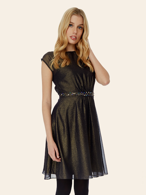 yumi chiffon dress, bronze chiffon dress, yumi party dress,