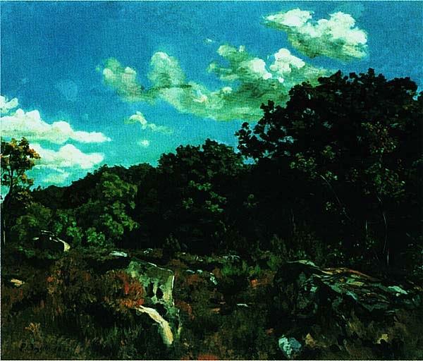 Фредерик Базиль. Пейзаж в Шайи. 1865.