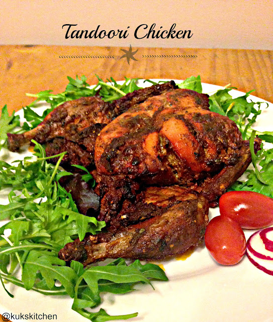 Whole Roasted Indian Tandoori Chicken  | Kukskitchen