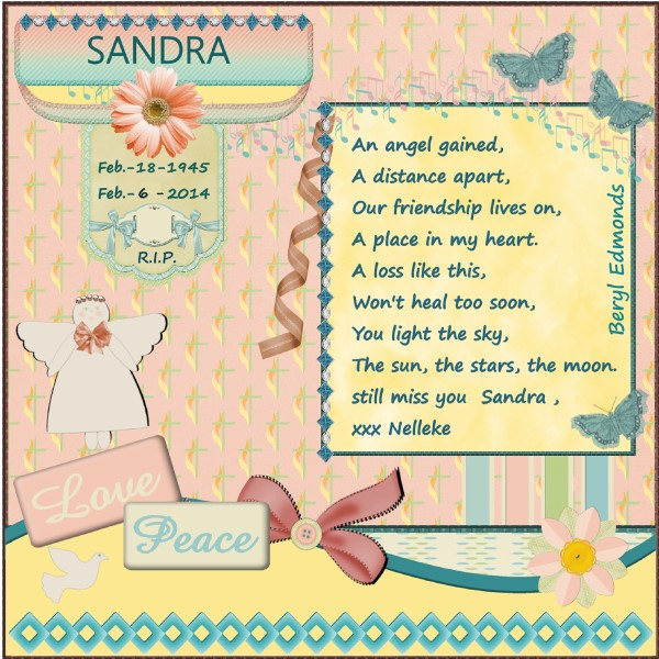 Feb.2016 - Sandra in our thoughts