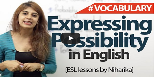 English Expressions For possibility