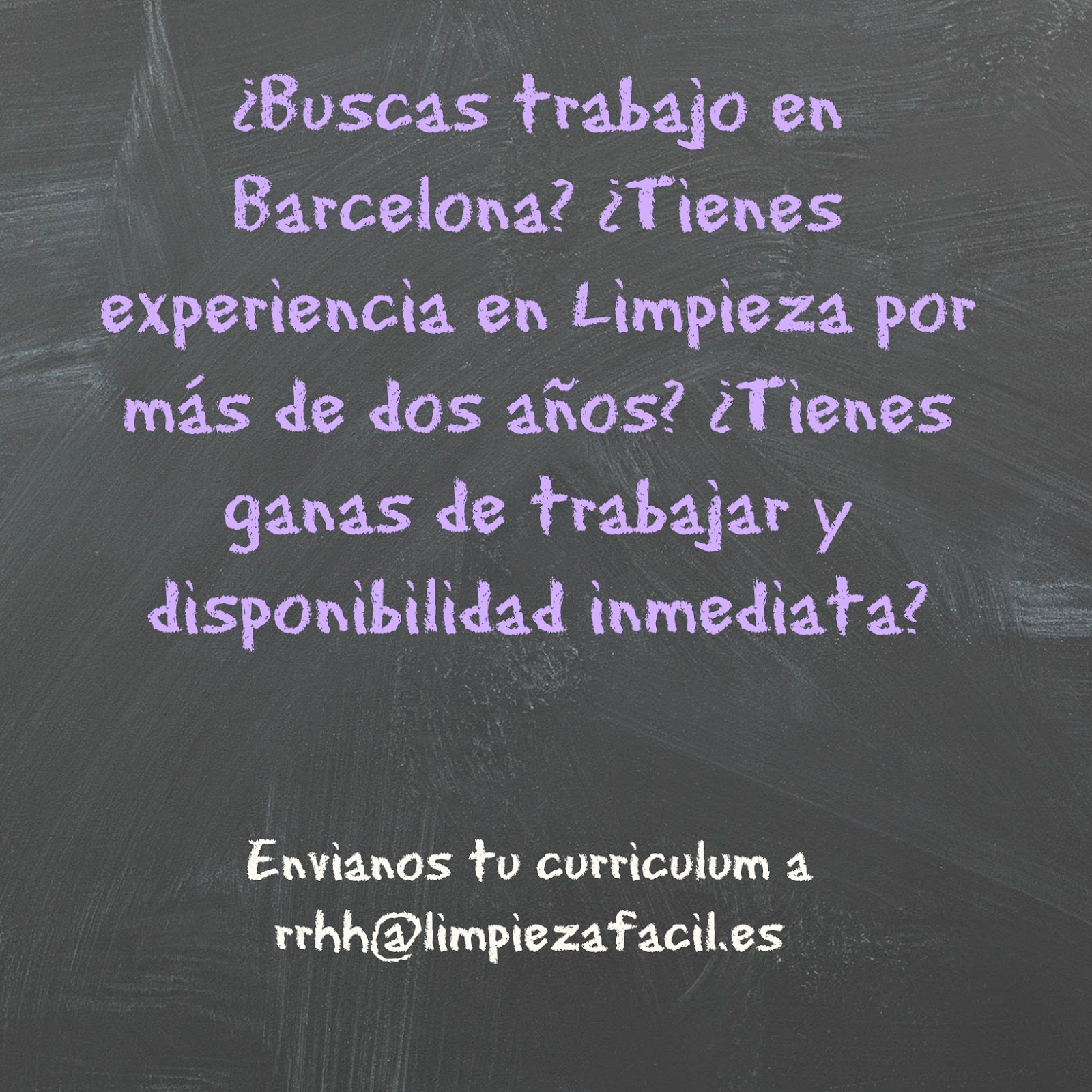Oferta de Trabajo - Limpieza en Barcelona