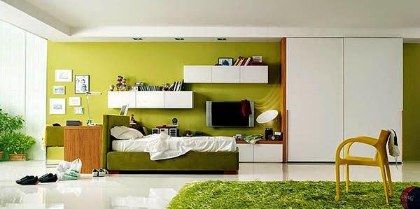 gambar desain kamar tidur yang minimalis unik modern