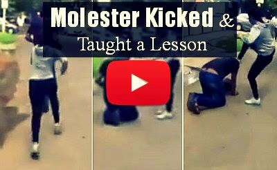 Watch this Brave girl get back to the molester sexually harassing her with a kick on his face via geniushowto.blogspot.com social videos