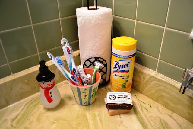 Bathroom essential guest supplies
