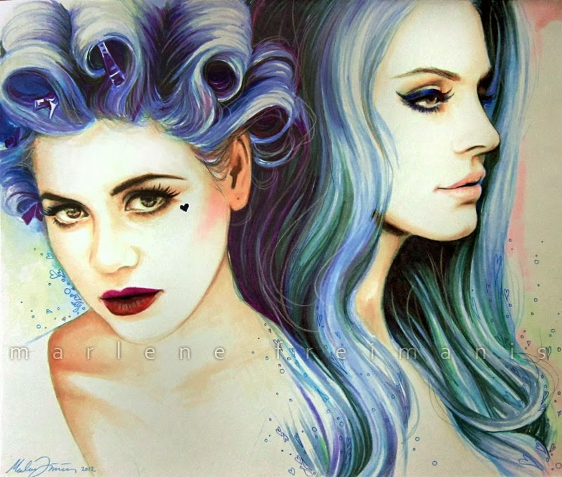 Fan Drawings of Lana and Marina♥