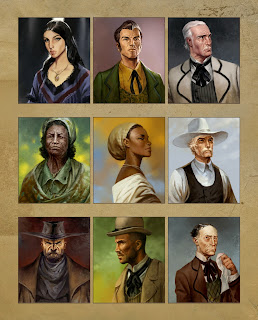 lukas thelin, western, rpg, art, character illustrations
