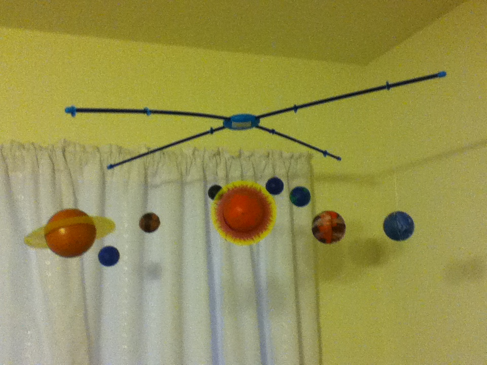 handmade solar system mobile - photo #5