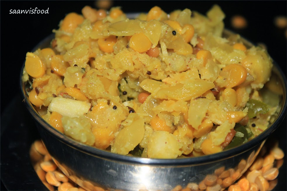 Senagapappu Cabbage Kura / Chana dal Cabbage Curry