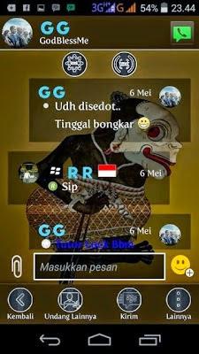 Download BBM Mod Punakawan Wayang Versi 2.8.0.21 Apk