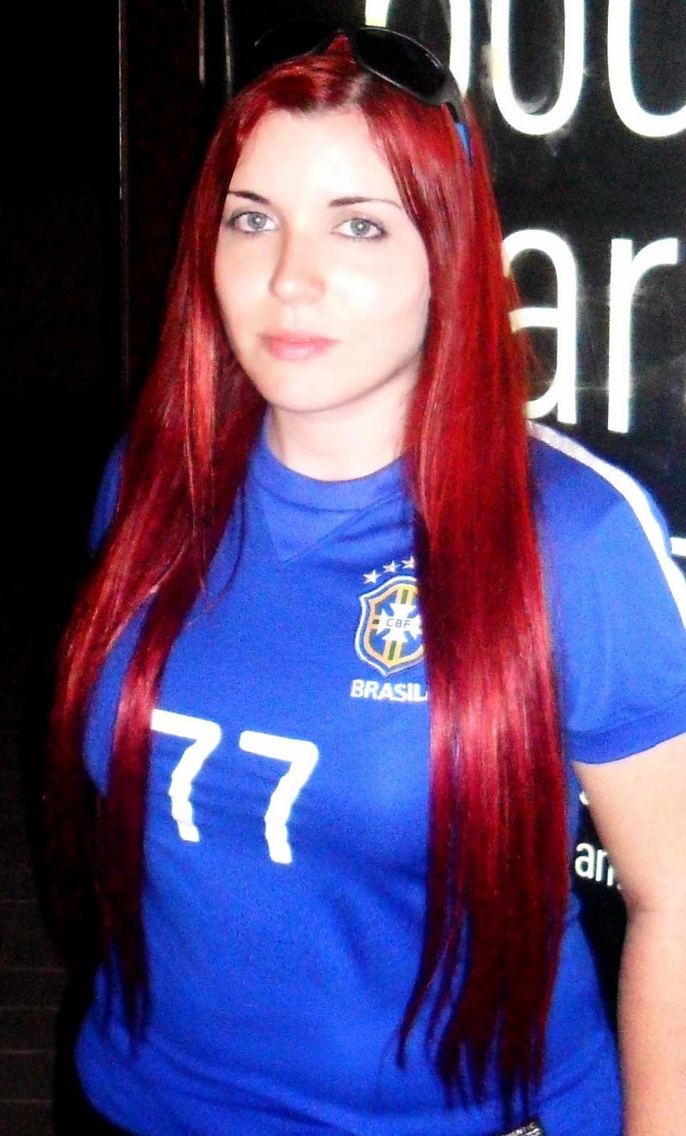 pelo extra largo rojo