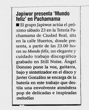 20/04/2005 DIARIO LANZA Ciudad Real