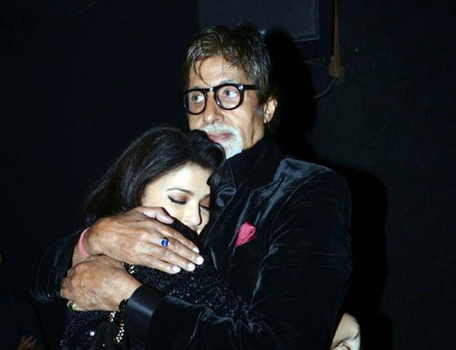 Aishwarya Rai Bachchan with Amitabh Bachchan