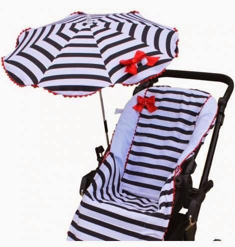 Colchonetas de silla de paseo con sombrillas a juego - Colchonetas para sillas de paseo originales ...