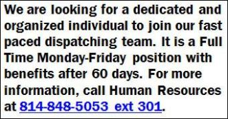 Dispatcher-REV Hoopes Trucking, LLC