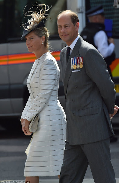 Queen Elizabeth II and Prince Philip, Duke of Edinburgh, Sophie, Countess of Wessex and Prince Edward, Earl of Wessex, Camilla, Duchess of Cornwall and Prince Charles, Prince of Wales