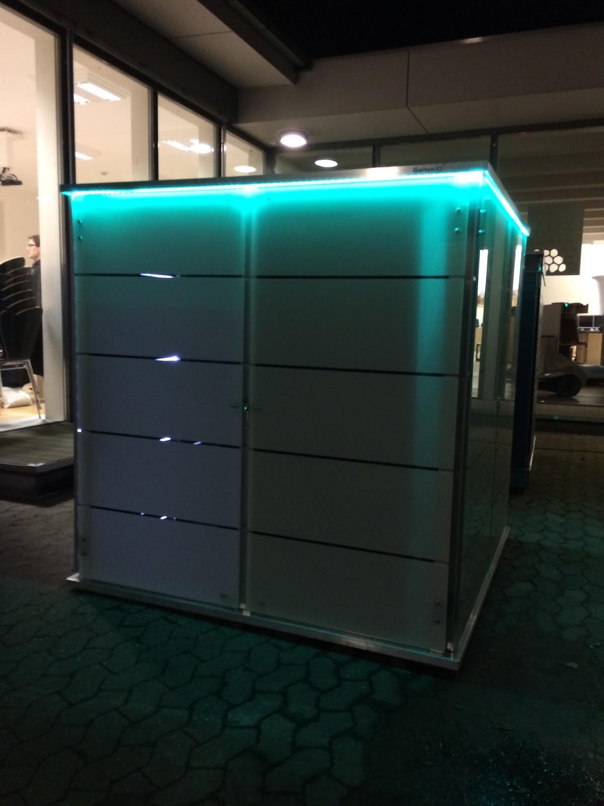 Gartenhaus mit integrierter LED Beleuchtung