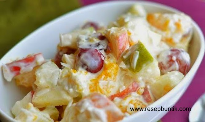 Resep Cara Membuat Salad Buah Saus Kacang