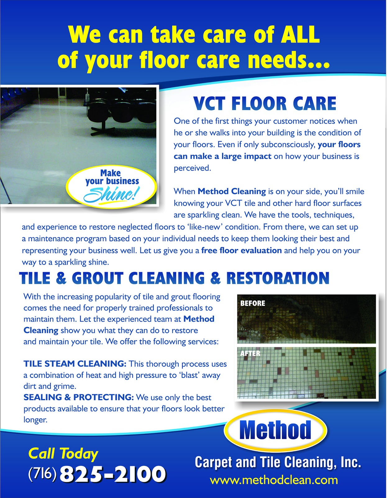 carpet cleaning flyer