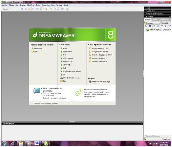 DISEÑO DE PAGINAS WEB::.: MARCOS TABLAS Y CAPAS EN HTML(DREAMWEAVER)