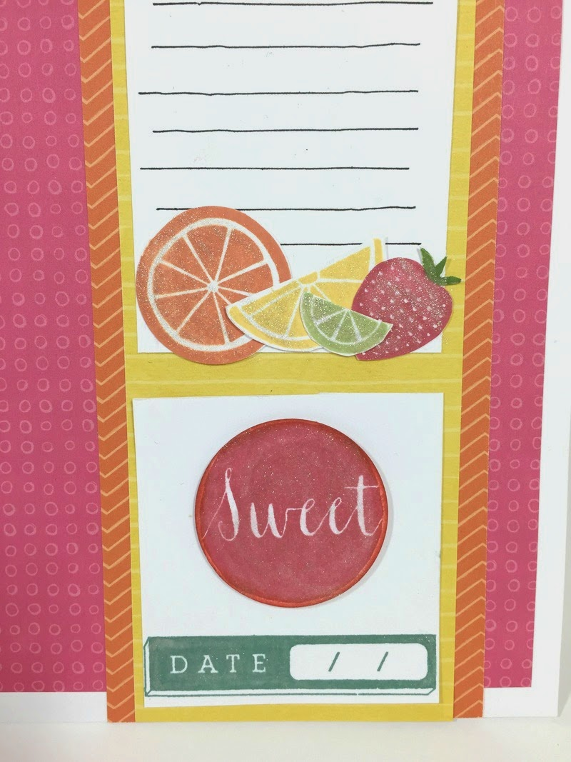 Cricut Summertime Sweetness scrapbook layout