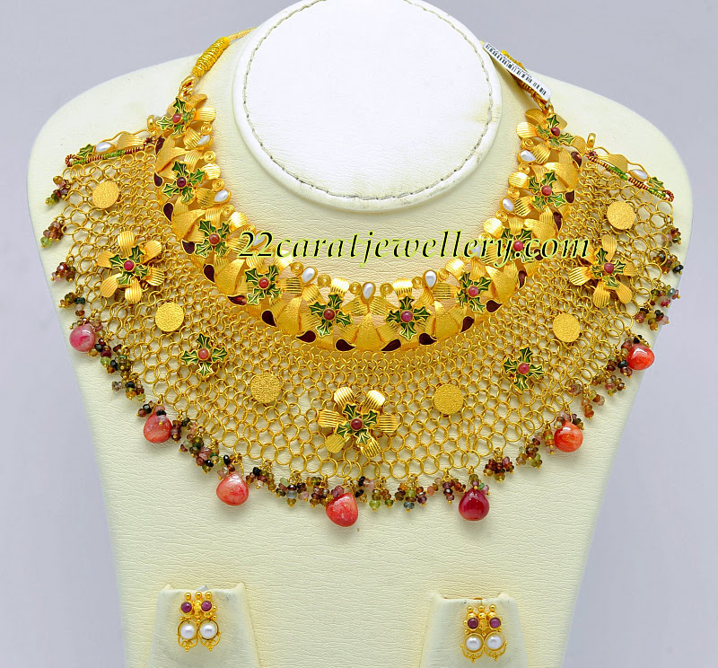 for gold necklace set plated women dp com amazon heavy variation