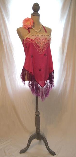 Pink boho gypsy women's halter top