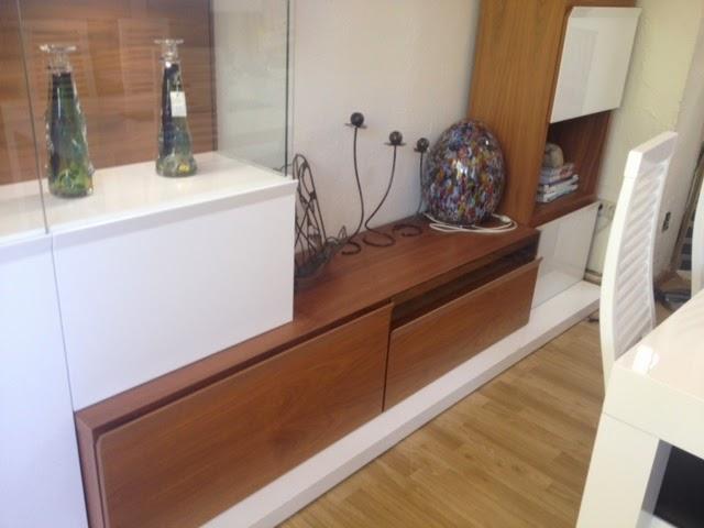 Tienda muebles modernos muebles de salon modernos salones for Mueble salon blanco y nogal