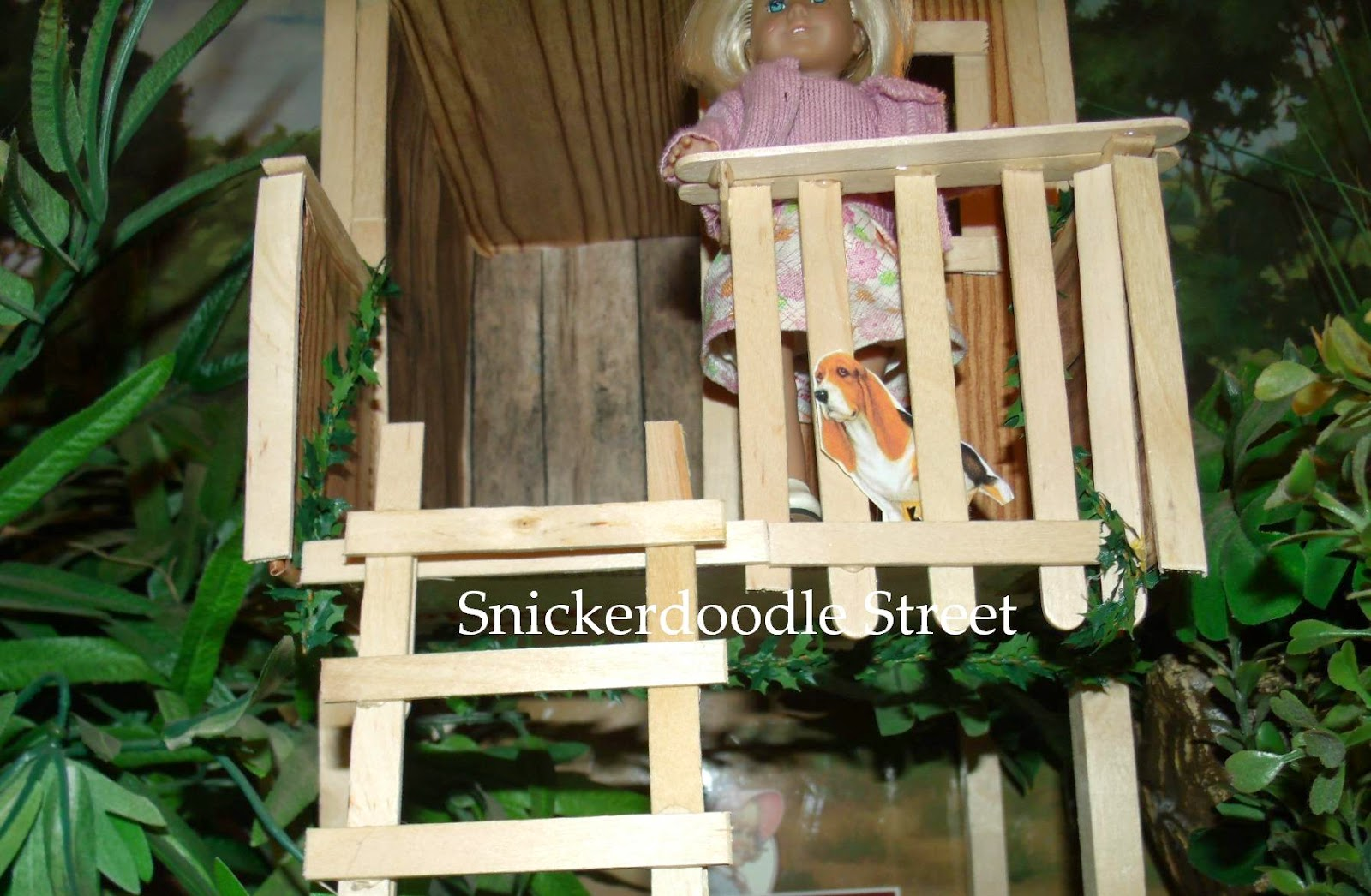 The ag minis of snickerdoodle street how to make mini kit for How to build a treehouse with sticks