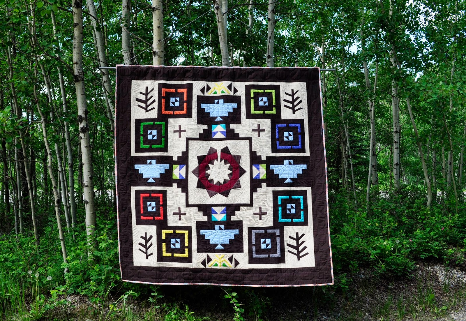 Tree of Life Quilt by Katrina Hertzer, Nizhoni Workshop (an original quilt)