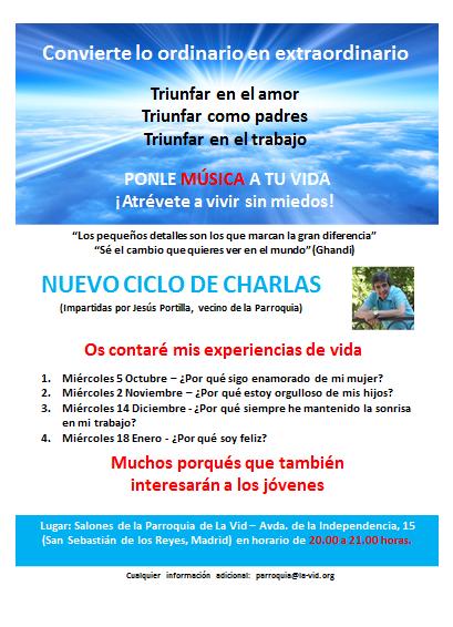Invitación nuevo ciclo de charlas en Madrid