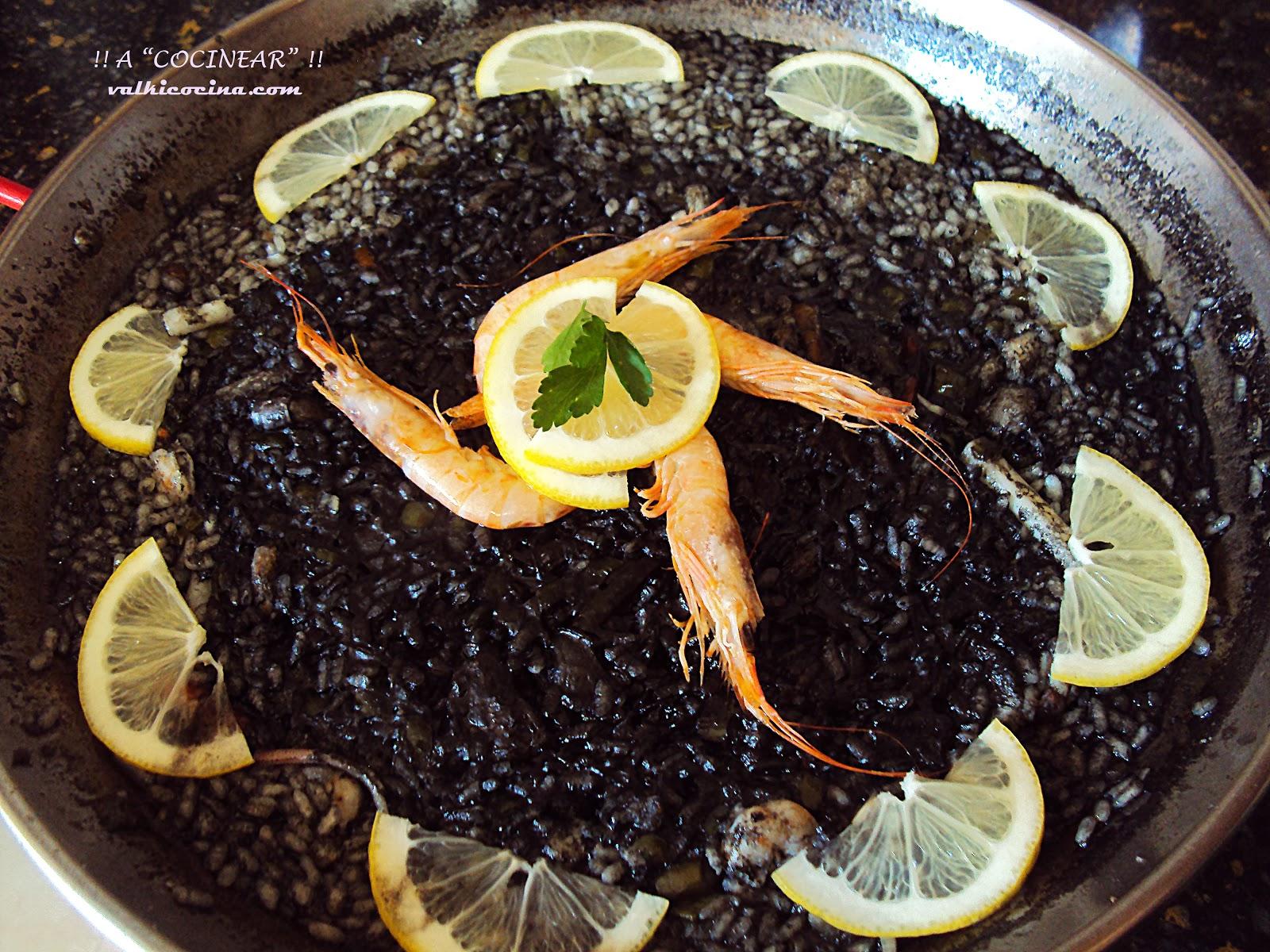 Receta de arroz negro con ali-oli casero