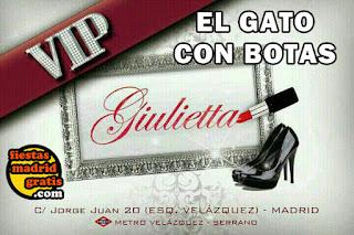 Flyer discoteca Giullieta, información, listas y pases