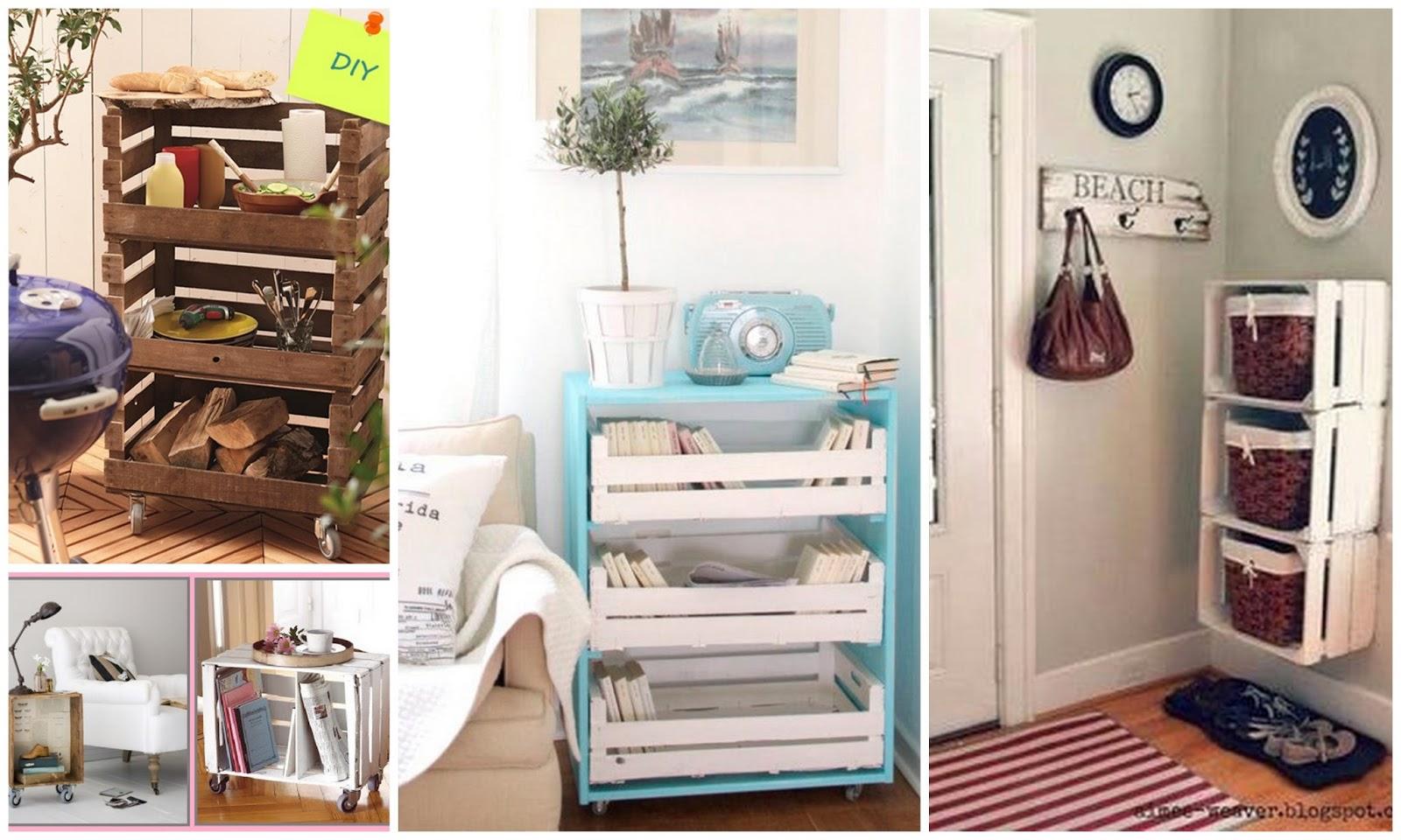 Dolce hogar decorar con cajas de madera for Dormitorio para 4 personas