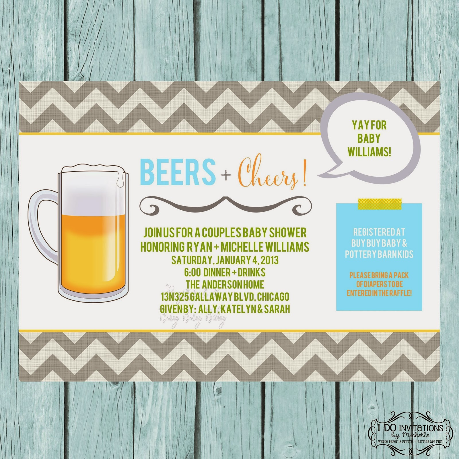 Beers cheers couples baby shower invitation ellery designs beers cheers couples baby shower invitation it was one of those ideas that i had spinning in my head that panned out exactly as i had envisioned filmwisefo