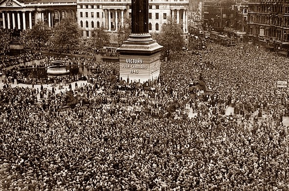 VE Day 1945 Trafalgar Square