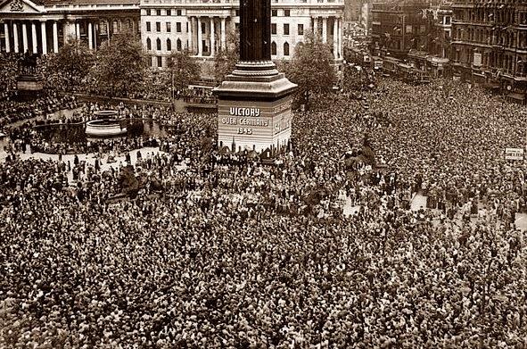 VE Day 1945 Trafalgar Square