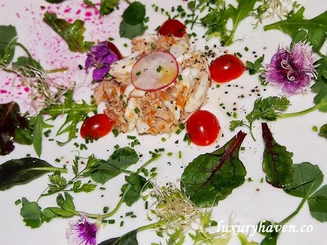 oso ristorante bukit pasoh spider crab granchio salad