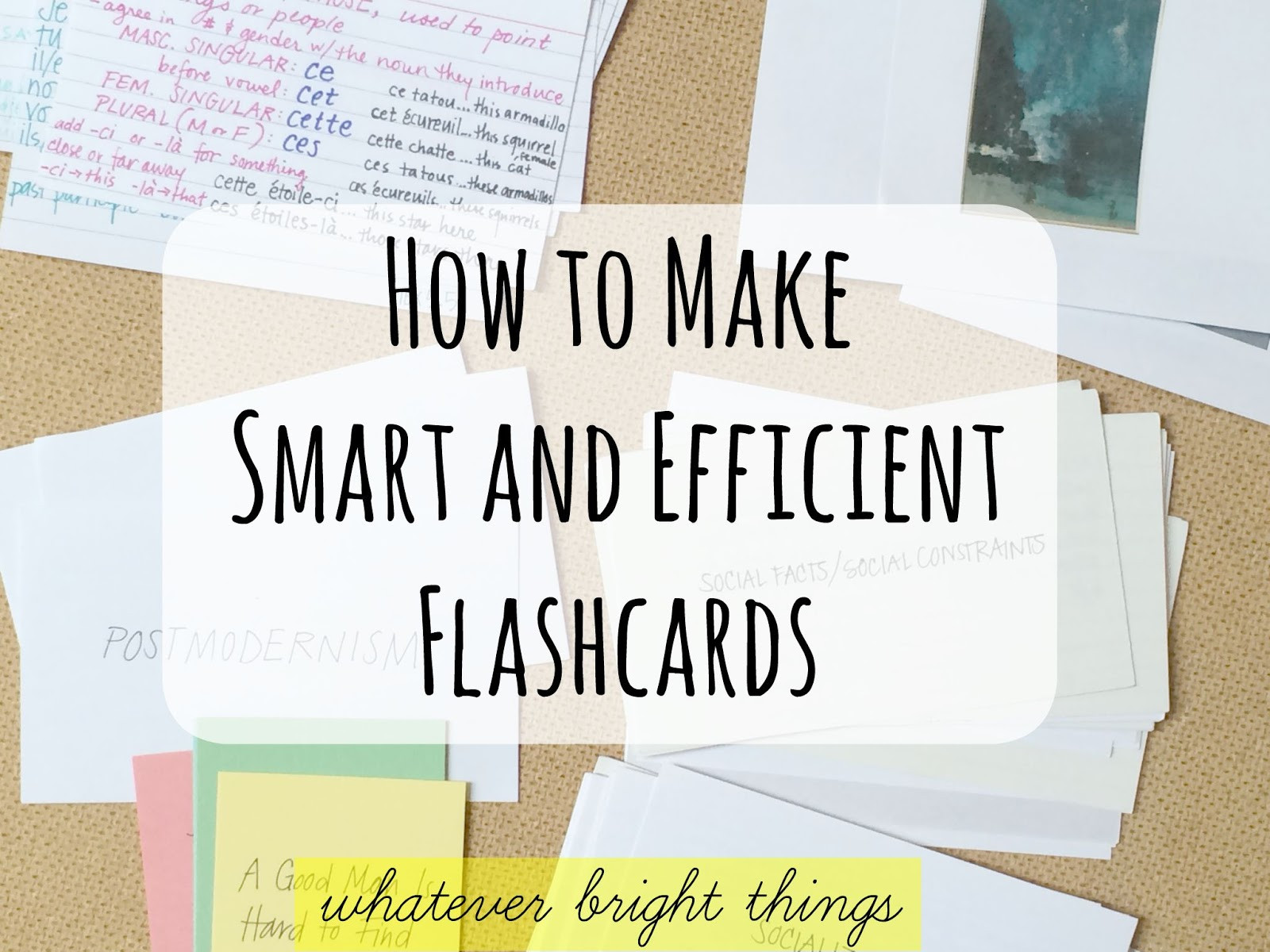 Image Of How To Make A Flash Card 5 Ways to Make Flash Cards ...