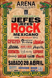 Los Jefes de Jefes del Rock Mexicano 2012