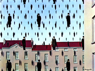 Golconda, opera surrealista di René Magritte
